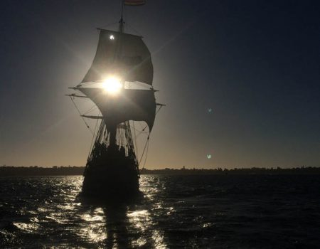 Duyfken Replica commences Twilight Sailing on the Swan River
