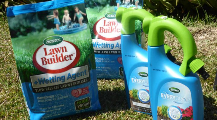 Scotts Australia – Lawn Builder with Wetting Agent and Everydrop